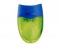 R003397 - temperówka plastikowa podwójna Keyroad Wave z pojemnikiem, mix kolorów