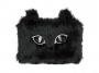 R003446 - piórnik-saszetka MEMORIS Fluffy Cat, włochata, na suwak, czarna