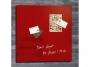 R003808 - tablica magnetyczna suchościeralna SIGEL 48x48cm, rama szklana, czerwona  Koszt transportu - zobacz szczegóły