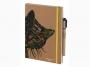 R003921 - kalendarz książkowy A5 Antra Kraft Kot 2021 r., tydzień na stronie, z gumką zamykającą, oprawa miękka