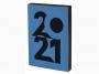 R003925Q - kalendarz książkowy A5 Antra Art 2021 r., dzień na stronie, z gumką zamykającą, oprawa miękka