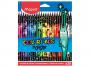 R004111 - kredki plastikowe Maped ColorPeps Monster trójkątne 24 kolorów