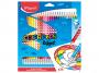 R004113 - kredki plastikowe Maped ColorPeps Oops z gumką trójkątne 24 kolorów