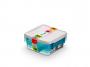 R004290 - pojemnik do przechowywania 0,6l ORPLAST Arctic line box, kwadratowe, niebieski transparentny, 3 szt./op.