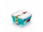 R004291 - pojemnik do przechowywania 0,85l ORPLAST Arctic line box, kwadratowe, niebieski transparentny, 3 szt./op.