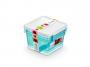 R004292 - pojemnik do przechowywania 1,15l ORPLAST Arctic line box, kwadratowe, niebieski transparentny, 3 szt./op.