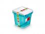 R004295 - pojemnik do przechowywania 4l ORPLAST Arctic line box, kwadratowe, niebieski transparentny, 2 szt./op.