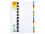 R004550 - przekładki do segregatora index laminowany 1-10 D.RECT