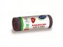 R004924 - worki na śmieci STELLA, z taśmą ściągającą, antybakteryjne, 35l,15szt, szare, szary