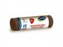 R004925 - worki na śmieci STELLA, z taśmą ściągającą, antybakteryjne, 60l, 10szt, szare, szary