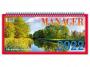 R005317 - kalendarz biurkowy Telegraph Manager 2022r. bloku 320 x 150 mm