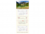 R005341Q - kalendarz trójdzielny Telegraph 2022r., kremowy 380 x 990 mm