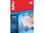 a10051 - etykiety samoprzylepne wodoodporne Apli 70x37 mm, ark. A4 3x8, transparentne, 10 ark./op.