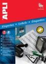 a10070 - etykiety samoprzylepne wodoodporne Apli 63,5x29 mm, ark. A4 3x9, srebrne, 20 ark./op.