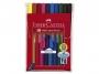 a5001552 - flamastry szkolne Faber Castell Grip 10 kolorów w etui, 155310