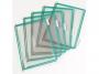 a5100242 - system prezentacyjny, informacyjny A5 Tarifold otwierany z góry, kolor zielony, op.10x panel