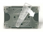 a5100346 - identyfikator z klipsem 91x57 mm 3L pionowy, ''krokodylek'', zapięcie obrotowe, 10 szt./op.