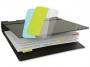 a5100358 - zakładki indeksujące samoprzylepne 3L białe, wielokrotnego użytku, 12x40 mm, 48 szt./op.