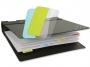 a5100359 - zakładki indeksujące samoprzylepne 3L białe, wielokrotnego użytku, 12x25 mm, 10521, 72 szt./op.