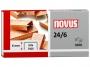 a5102176 - zszywki 24/6 Novus miedziowane 1000 szt./op.
