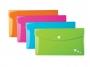 be41602 - teczka kopertowa DL Elba Art, PP, na zatrzask, mix kolorów, 5 szt./op