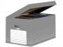 be83432 - pudło archiwizacyjne Elba otwierane z góry, szare, karton o wymiarach 34,5x45x28 cm
