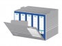 be83433 - pudło archiwizacyjne Elba otwierane z przodu, szare, karton o wymiarach 46,5x36x32,5 cm