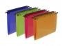 bx385590 - teczka zawieszana PP Elba A4 z systemem łączącym teczki, mix kolorów 10 szt./op.