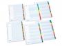 bx623500 - przekładki do segregatora A4 kartonowe numeryczne 1-5 Bantex Manilla, białe z kolorowymi indeksamiTowar dostępny do wyczerpania zapasów!!
