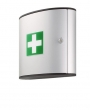 d1970 - szafka apteczka Durable FIRST AID BOX M, mała, srebrna, 302x280x118 mm
