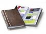 d238211 - wizytownik album na 200 wizytówek Durable Visifix, 255x145 mm, brązowy
