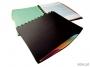 d2435 - album ofertowy A4 20 koszulek wymiennych, 4 kolorowe przekładki, czarny Durable Duralook Style, okładka PP