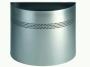d331623 - kosz, pojemnik na śmieci 20l metalowy Durable 20/P 30 mm, półokrągły, perforacja 30 mm, srebrny