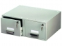 d335410 - kasetka na kartoteki A5 podwójna Durable zamykana, szara