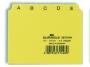 d3670__ - przekładki do kartotek A7 poziome 5/5 Durable z indeksami 40 mm, PP 25 szt. /op.