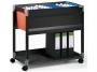 d3784__ - wózek - kartoteka Durable System File Trolley 90 A4 S, do teczek zawieszanych, z półką
