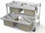 d379210 - wózek - kartoteka Durable System File Trolley 200 Multi Duo, do teczek zawieszanych A4, szary