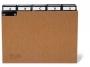 d424511 - przekładki do kartotek A4 poziome 5/5, preszpan Durable z wsuwanymi indeksami 40 mm A-Z, brązowe, 25 szt./op.Towar dostępny do wyczerpania zapasów!!
