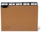d425511 - przekładki do kartotek A5 poziome 5/5, preszpan Durable z wsuwanymi indeksami 40 mm A-Z, brązowe, 25 szt./op.
