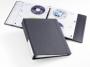 d522758 - segregator na płyty Durable na 40 CD/ DVD, 4 ringi, 65 mm, grafitowy