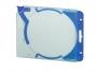 d526906 - pudełko na płyty na 1 CD / DVD Durable Quick Flip Complete, do segregatora, przezroczysto - niebieskie, 5 szt./op.