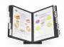 d557001 - system prezentacyjny, informacyjny A4 podstawka Durable Vario, czarna, zestaw 10 szt. ramek na podstawie stołowej