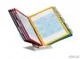 d5579 - system prezentacyjny, informacyjny A4 na stół i naścienny Durable Vario Pro 10 pion / poziom, zestaw 10x panel mix kolorów, z uchwytem