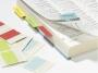 d840600 - zakładki indeksujące samoprzylepne Durable 40 mm, papierowe, dwustronne, mix kolorów, 24 szt./op.