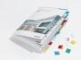 d841200 - zakładki indeksujące samoprzylepne Durable 25 mm, do kartotek, mix kolorów, 12 szt./op.