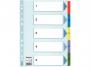 e100160 - przekładki do segregatora A4 kartonowe numeryczne 1-5 Esselte Mylar