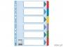 e100168 - przekładki do segregatora A4 kartonowe Esselte kolorowe 1-6 Mylar z kartą opisową
