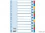 e100169 - przekładki do segregatora A4 kartonowe Esselte kolorowe 1-12 Mylar z kartą opisową