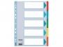 e100191 - przekładki do segregatora A4 kartonowe Esselte 5 kolorów