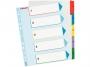 e100207 - przekładki do segregatora A4 Maxi numeryczne 1-5 Esselte Mylar, z laminowaną kartą opisową